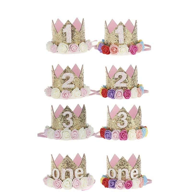 corona de cumpleanos con flores 3