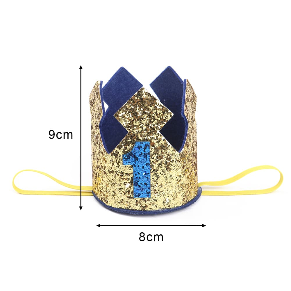 corona de cumpleanos con purpurina 2