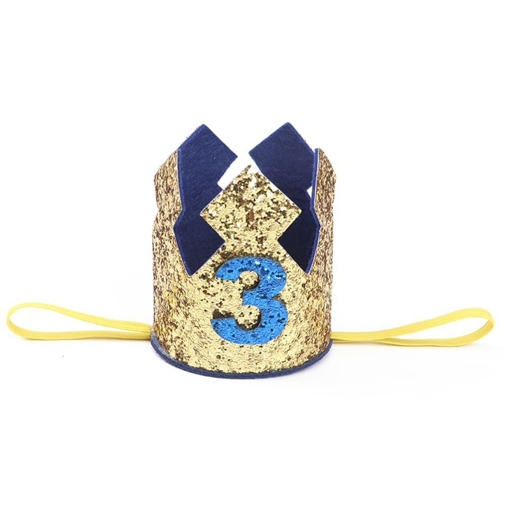 corona de cumpleanos con purpurina 3