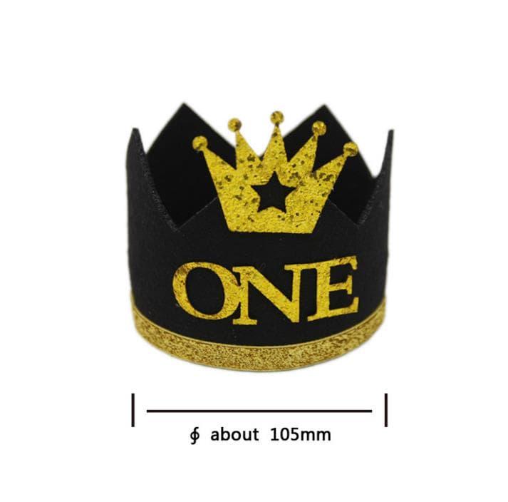 corona de cumpleanos de tela 1
