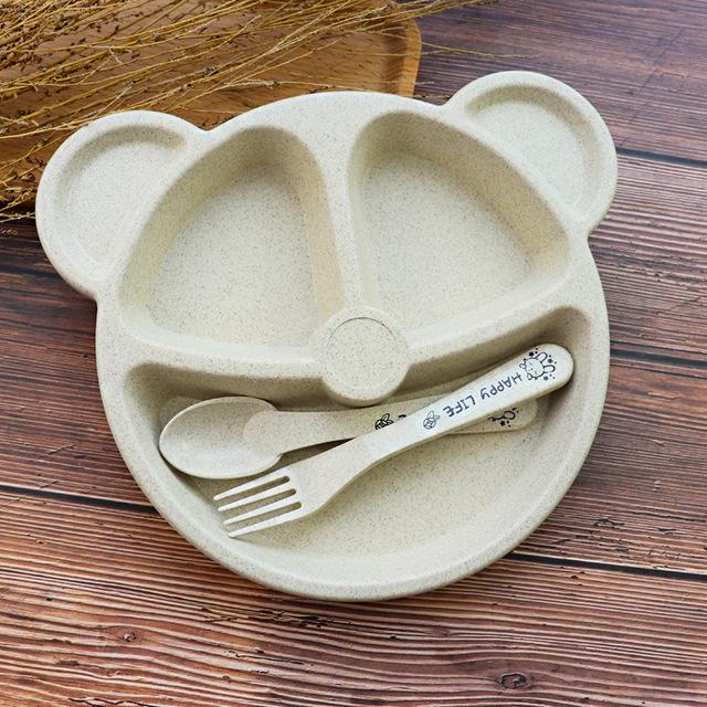 Cuenco hipoac para beb cuchara tenedor comida de alimentaci n juego de vajilla de oso de.jpg 640x640 1