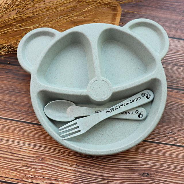 Cuenco hipoac para beb cuchara tenedor comida de alimentaci n juego de vajilla de oso de.jpg 640x640 2