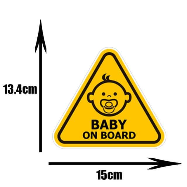 Pegatinas de PVC para coche de beb pegatinas para ventana de dibujos animados decoraci n
