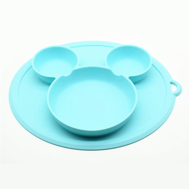 Plato de silicona para beb s platos tipo taz n de alimentaci n de beb