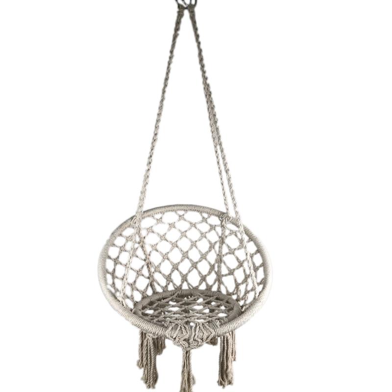 Silla hamaca hecha a mano estilo bohemio de moda para interiores y exteriores hamaca Columpio de