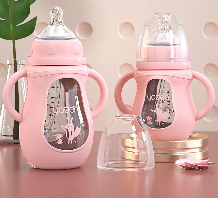 biberon bebe color rosa imagen 1