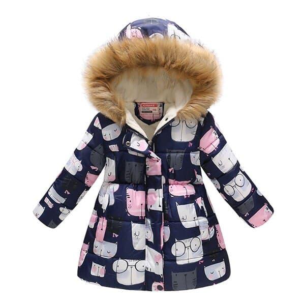 Chaqueta de oto o invierno para ni as abrigo c lido con capucha ropa de