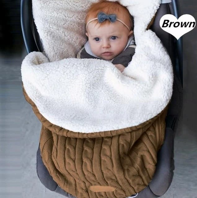 Manta c lida de punto para beb reci n nacido saco de dormir suave saco de.jpg 640x640 2