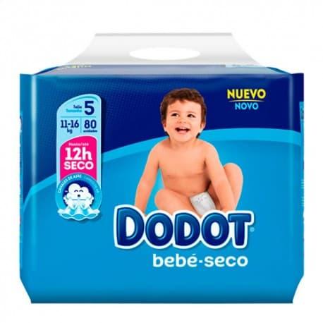 dodot bebe seco talla 5 11 16kg 80 unidades
